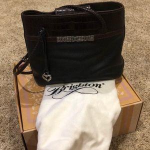 Brighton black/brown leather shoulder bag